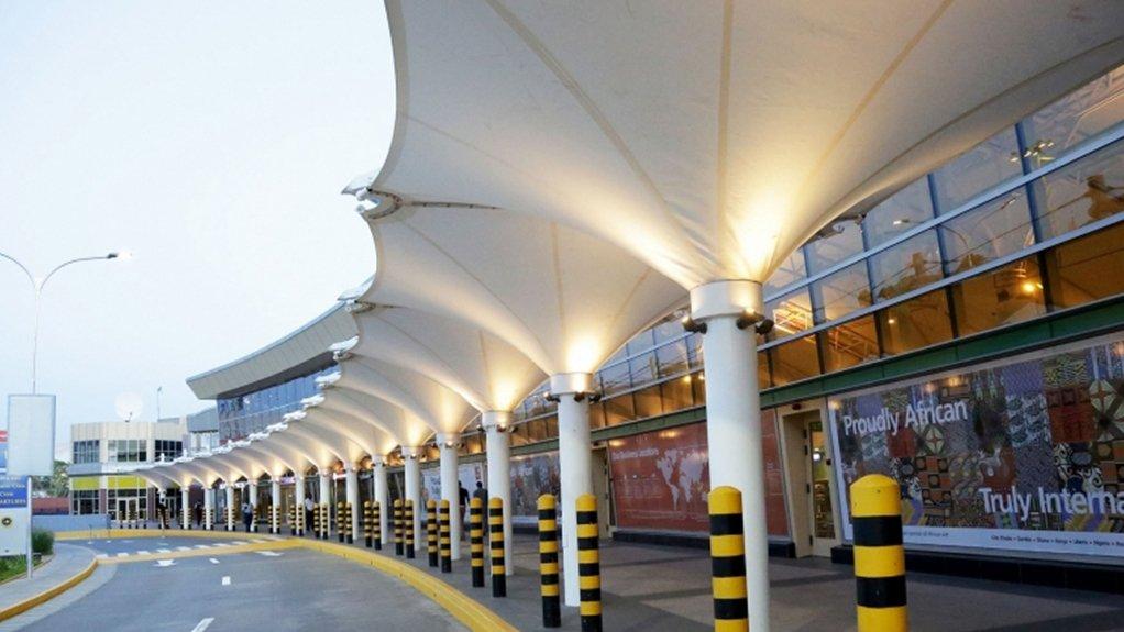 A passenger's view of one of the terminals at Jomo Kenyatta International Airport