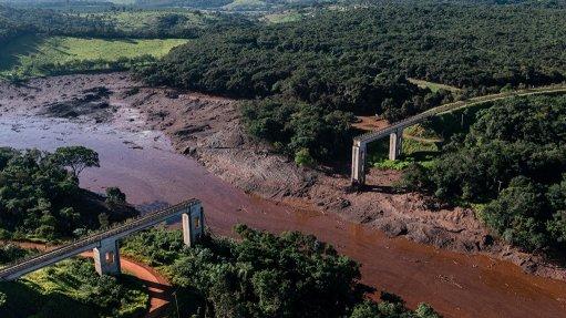 The Corrego do Feijao tailings dam collapse, in Brumadinho, Brazil.