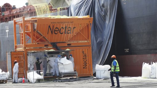 Manica Namibia completes first use of new hopper, bagging system