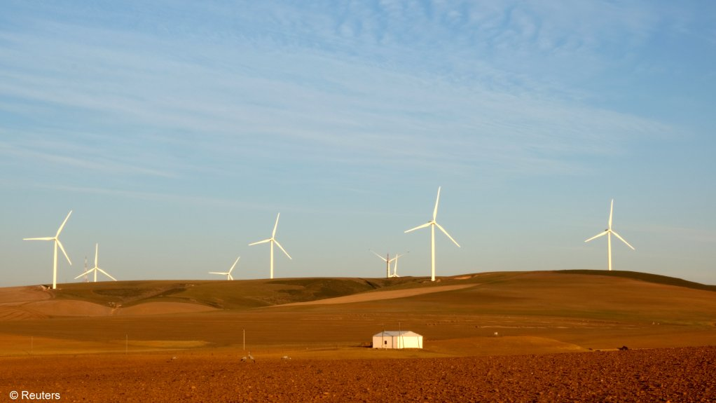 Wind turbines outside Caledon in the Western Cape.
