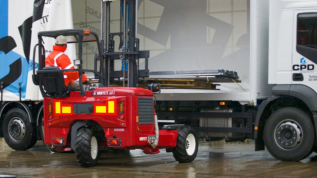 CREATIVE SOLUTIONS  Through flexible Moffett truck-mounted forklifts, the Shamrock Handling Concepts team offers customers creative solutions to logistics challenges, by ensuring deliveries arrive safely on time, in perfect condition and at the most economic price