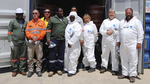 SAFETY FIRST Radiation Safety Working Group inspecting final product transport at the Husab Mine
