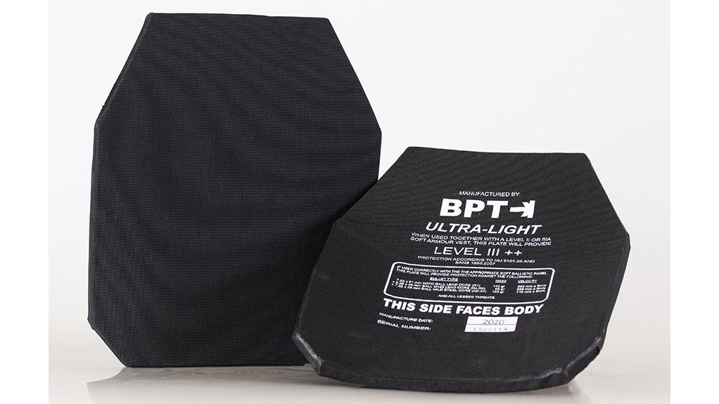 BITING THE BULLET Specifications for body armour should consider the threats mostly encountered in South Africa. This will ensure the correct type of ballistic body armour is used