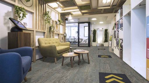 GUIDED STEPS Safe flooring goes beyond demarcations and markings; it should also be environmentally safe and also contribute to the fight against Covid-19
