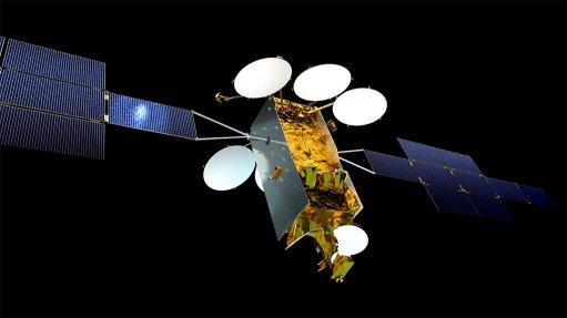 Computer image of an Eurostar Neo satellite in orbit