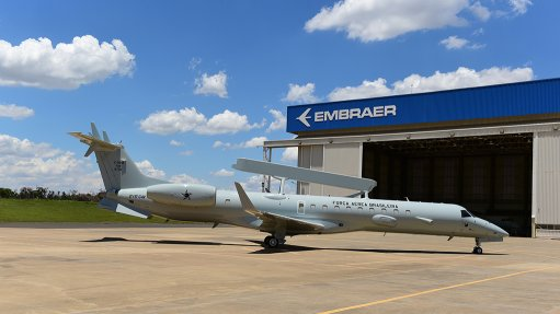 A modernised Embraer E-99M airborne early warning and control aircraft