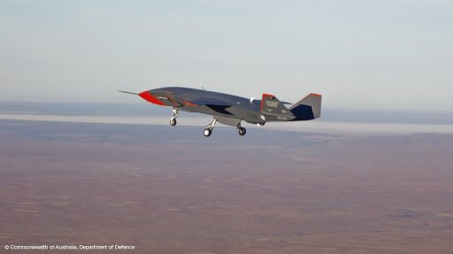 The first Loyal Wingman UAV on its maiden flight