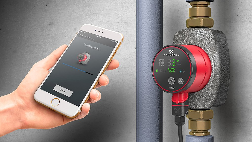 FULL CONTROL Grundfos full control and balancing with the ALPHA3 connected circulator pump directly to mobile device