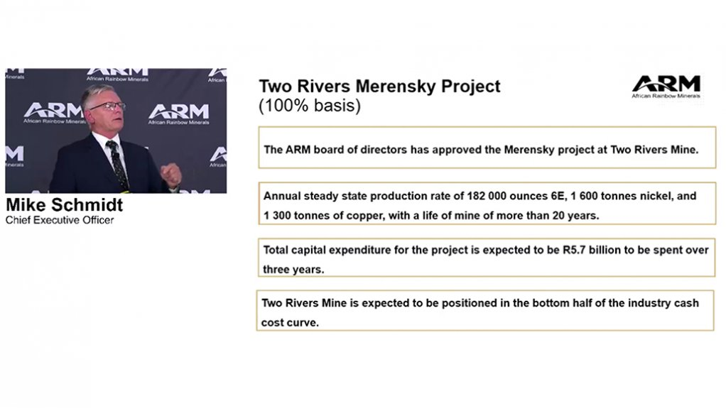 The Two Rivers Merensky project of African Ranbow Minerals.