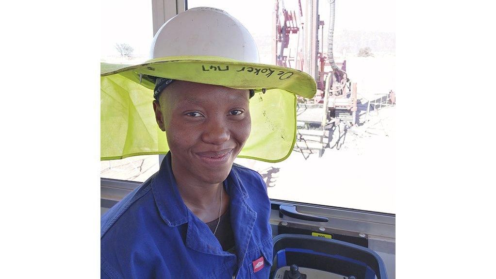 Veronica Mofokeng  Mofokeng is a drill rig operator for Kumba Iron Ore's Sishen South mine