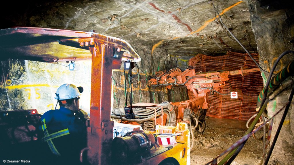 Earlier mining activity at the underground Burnstone gold mine, where R2.3-billion is now being invested.