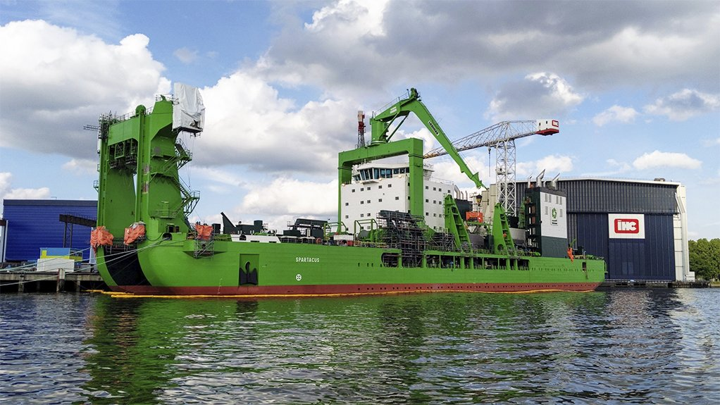 THiS IS SPARTA-CUS Spartacus the new cutter suction dredger on offer by DEME is said o be the largest of its kind globally