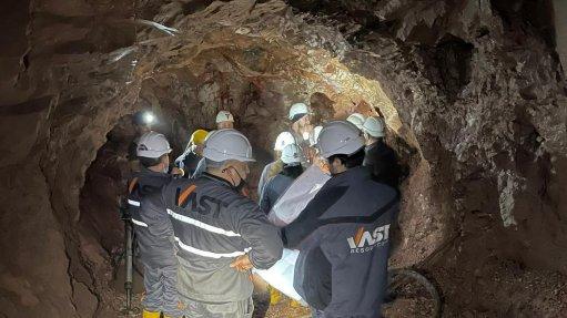 Vast exec team on site to coordinate Baita Plai mine plan