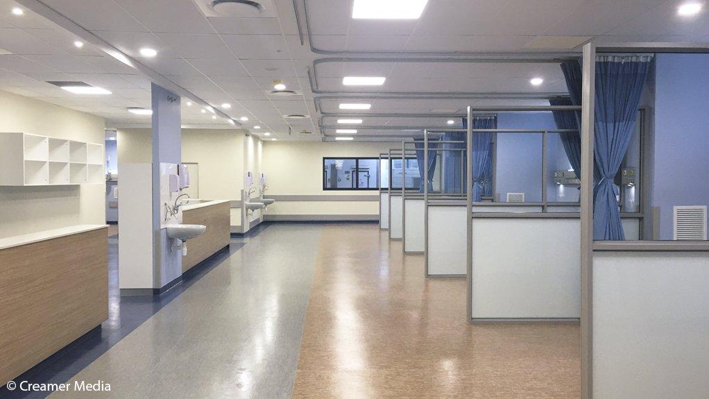 The ICU units of a ward in the Bara500 ICU hospital