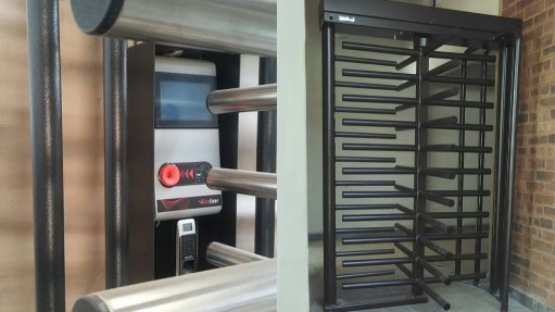 The turnstile from Flow Systems integrates access control with alcohol detection