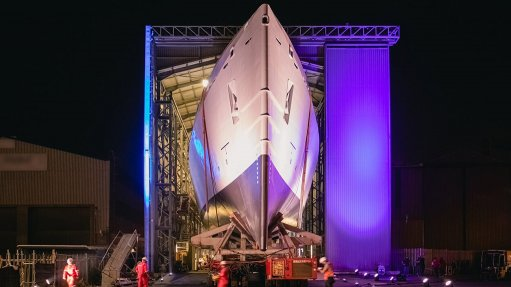 New patrol vessel for the South African Navy is launched in Cape Town