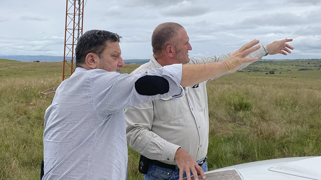 Founder Demetri Pappadopoulos and Wilhelm Niehaus at Haverfontein Wind outside Carolina in Mpumalanga