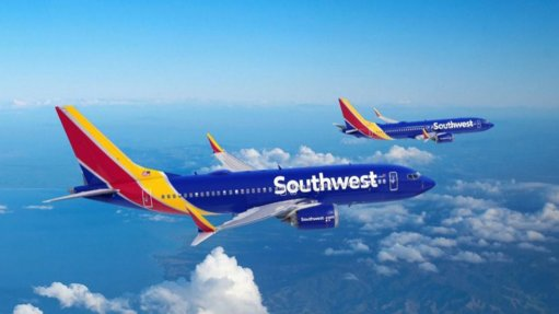 Boeing 737 MAXs in Southwest airline colours