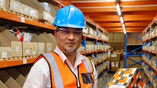 Rajesh Gupta at the new warehouse