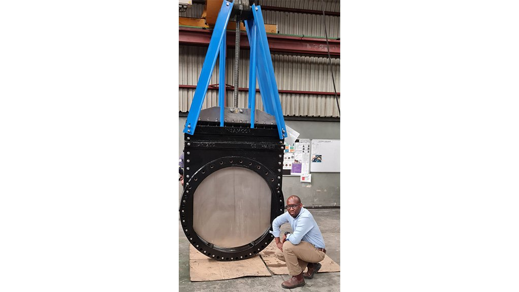 TUMI TSEHLO The larger than normal valve manufactured for the desalinisation plant would generally be used in the mining sector