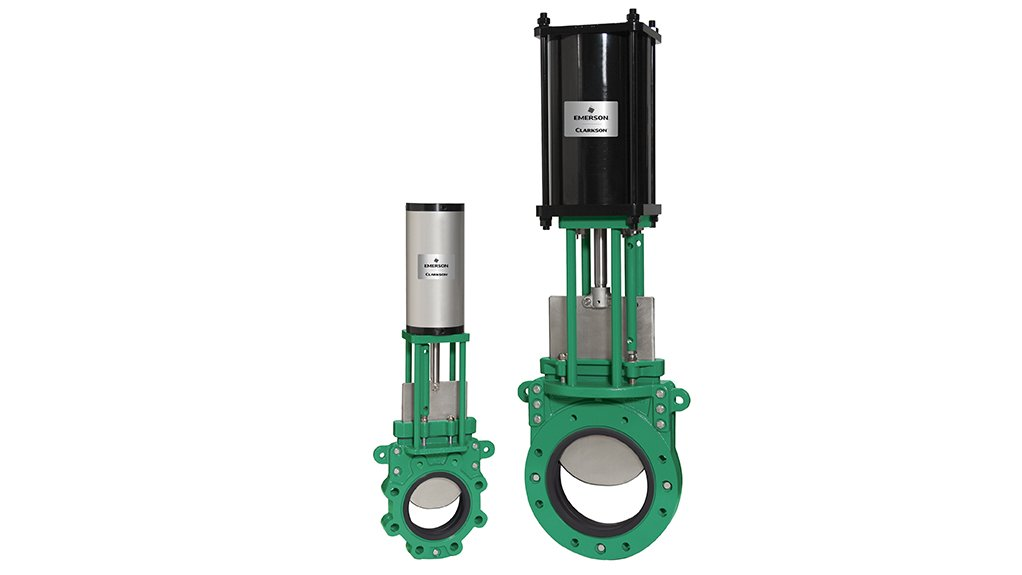 FLOOD GATE The Clarkson slurry knife gate valve range is being offered to the South African market by uNyasi Sales and Services