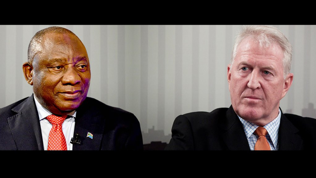 In a 'Postcard' to President Cyril Ramaphosa, mining analyst Bruce Williamson (right) pleads for the creation of 'all-weather' mining policy.