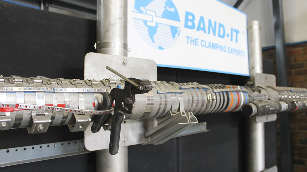 FIRM GRIP  The BAND-IT stainless steel band clamps spread their clamping force out across the full perimeter of the items they are joining
