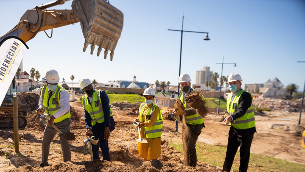 The sod turning at the Boardwalk Mall's official development launch, in Gqeberha.