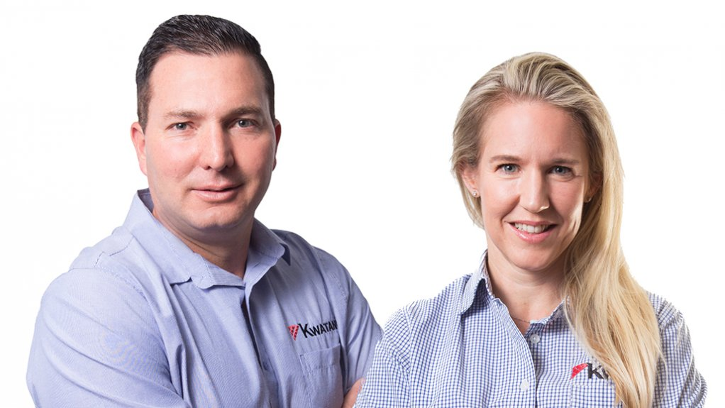 RIAAN STEINMANN, KIM SCHOEPFLIN Operations GM at Kwatani, and CEO, respectively