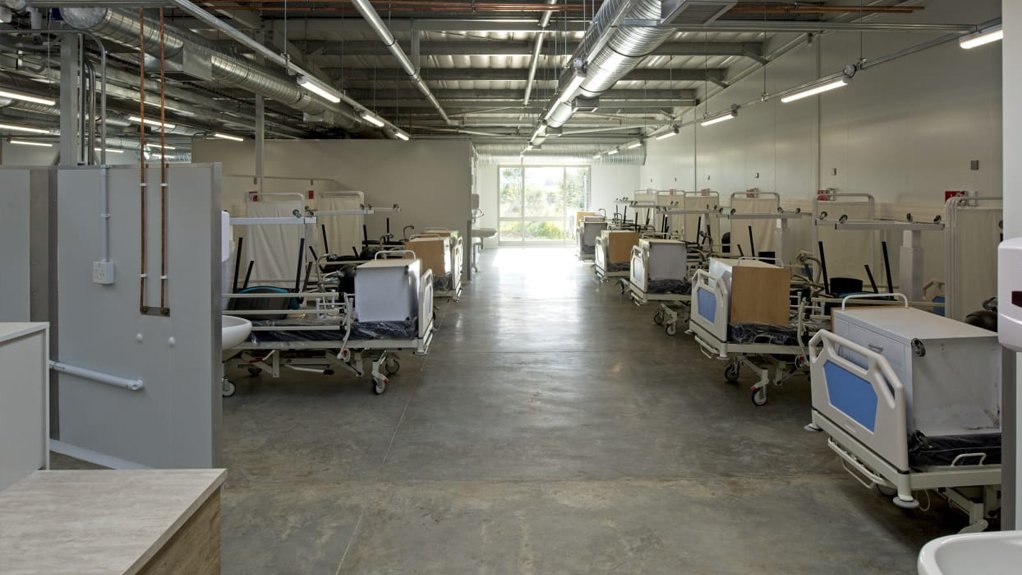 The interior of the 100-bed modular hospital solution to the Cecilia Makiwane Hospital