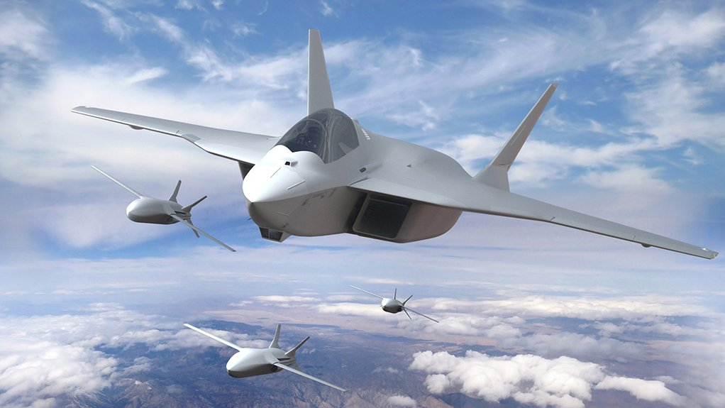 An artist's impression of the New Generation Fighter, with new generation uncrewed combat air vehicles