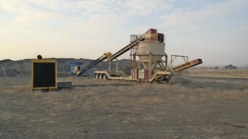 PORTABLE FISHER AIR SEPARATOR UNIT Waterless classification system used on quarries
