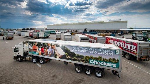 A Shoprite solar-powered refrigerated trailer