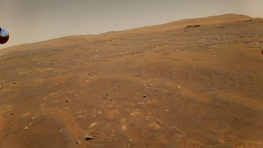 Image of the Martian surface taken by Ingenuity from at altitude of 10 m during its sixth flight
