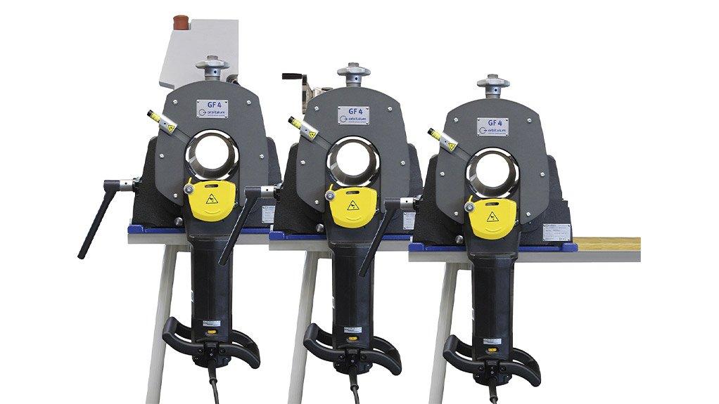 ORBITALUM GF SAW Orbital pipe cutting machine used in food and beverage, and pharmaceutical, industries
