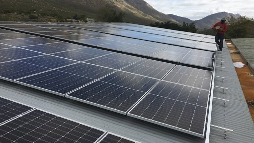 Solar plant at CapeNature offices, in Cederberg