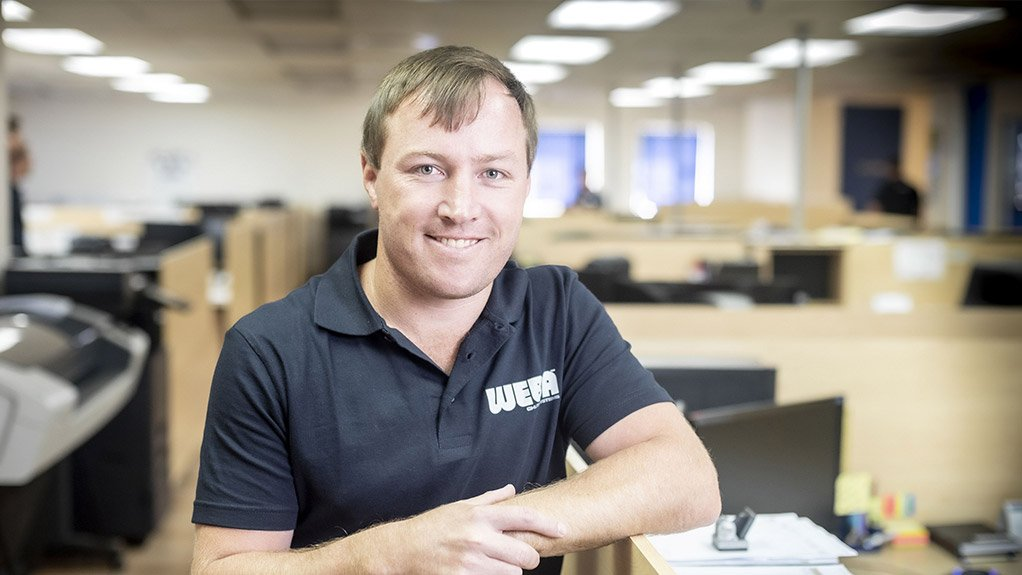 Dewald Tintinger, Weba Chute Systems technical manager and designer