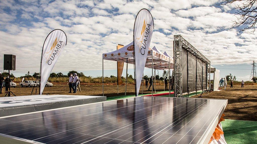 Cuamba solar site, in Mozambique