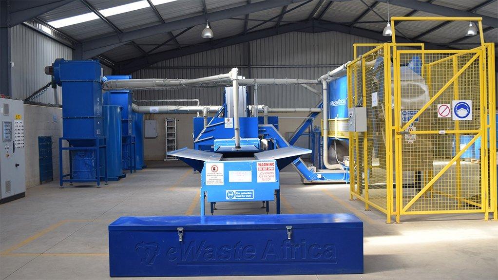 EWaste Africa lamp recycling facility in Pietermaritzburg, KwaZulu-Natal