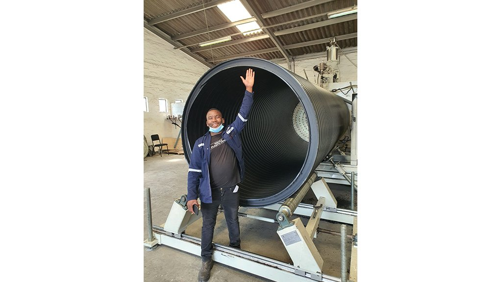 BIG BOY Inkulu Plastic Pipes is the first in the country to manufacture pipes at a diameter of 1 200 mm