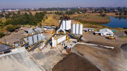 AECI Much Asphalt's plant in Benoni, South Africa.