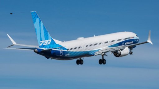 The Boeing 737-10 makes its maiden take-off