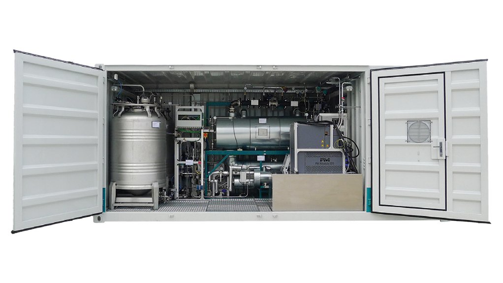 This Hydrogenious LOHC Technologies system binds hydrogen to oil.
