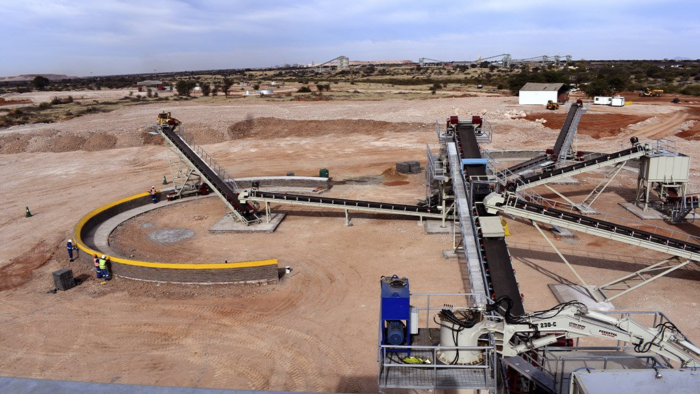 EAST MANGANESE MINE Construction at the manganese mine began in September 2020 with various civil infrastructure components