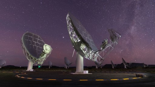 An image showing a part of the MeerKAT telescope array in South Africa