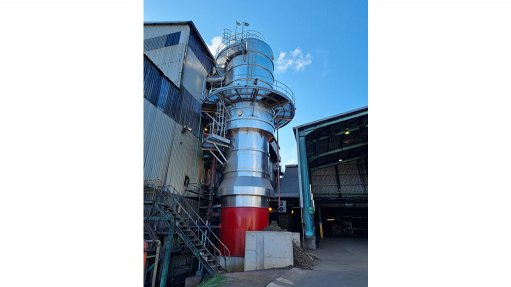 Photo of long tube evaporator installed at sugar factory