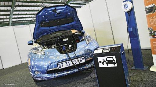 Image of Nissan Leaf EV electric vehicle charging