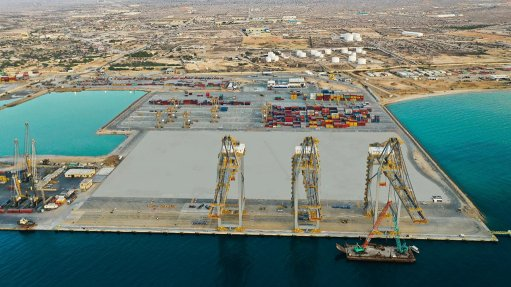 Photo of the Berbera container terminal in Somaliland