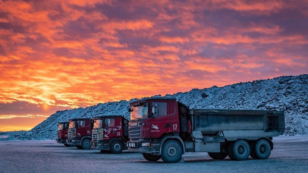 Underground trucks at an Agnico Eagle mine in Canada