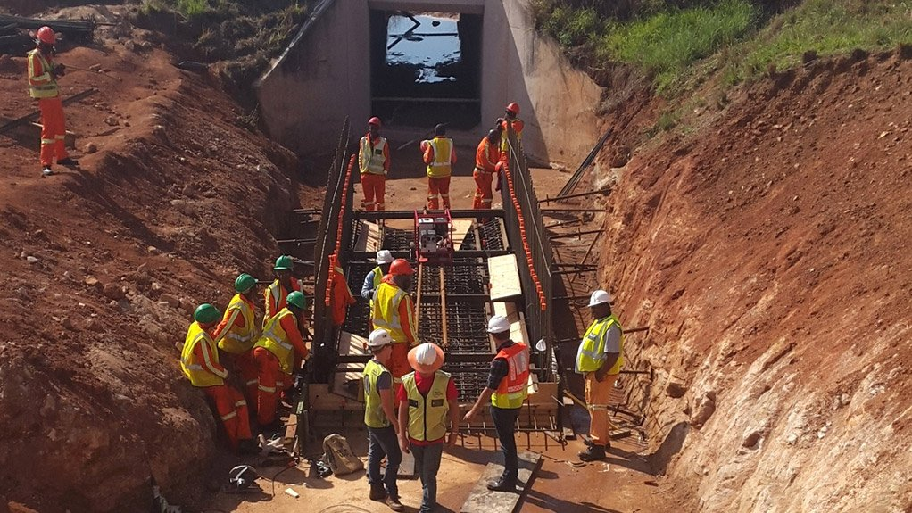 Road construction along the N4